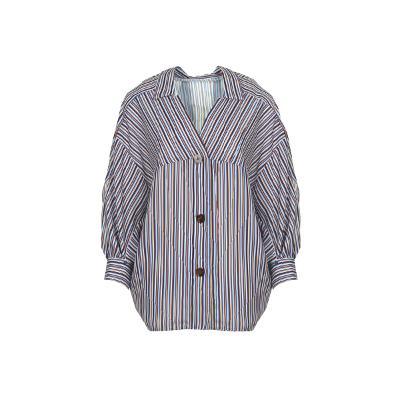 stripe pattern yoke shirt multi